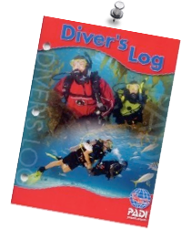 PADI dive log book